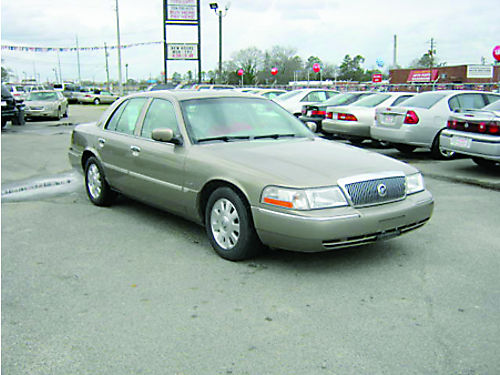 2003 MERCURY GRAND MARQUIS 4dr Auto Gold Leather 7995 888-640-5901