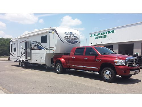2008 DODGE 3500 laramie 4x4 diesel dually 1 owner new michelins removable 5th wheel hitch tps a