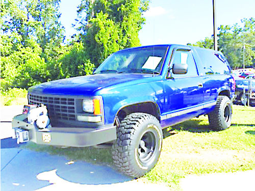 1993 CHEVROLET K-5 BLAZER 350 4x4 Heavy Duty pkg 32 alloys winch Crate motor  transmission in