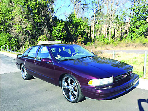 1996 CHEVROLET IMPALA SS LT1350 leather shifter in the floor 22 wheels Ask for Travis