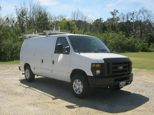 2011 FORD E150 CARGO VAN v8 Auto AC 2 Sides Nice Interior Shelves Drawers Drop Down Ladder Rack