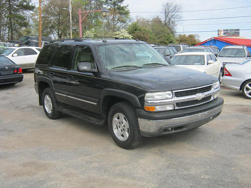 2004 CHEVY TAHOE 4dr Auto Black 3rd Row 8900 706-771-9510