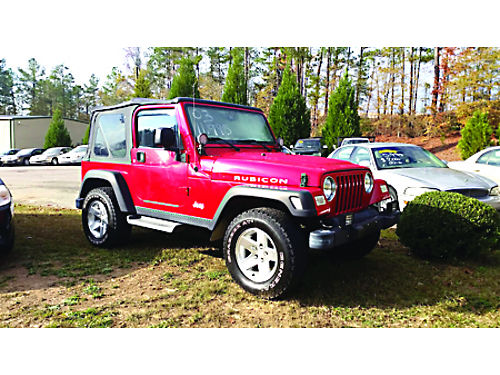 2003 JEEP WRANGLER RUBICON 5spd AC 6 cyl 121K miles In fantastic condition 11995 Brian Lovet