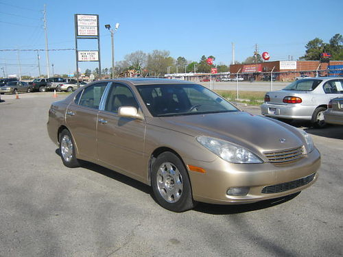 2004 LEXUS ES 330 4dr Auto Gold Leather Sunroof Call 888-640-5901