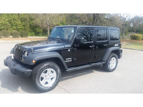 2013 JEEP WRANGLER 4x4 sport unlimited xc good tires 28000obo