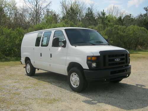2008 FORD E250 CARGO VAN Bulkhead Nice Interior Shelves  Drawers One Owner Well-Maintained Only