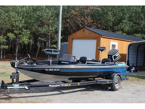 1988 RANGER BASS 374v very good condition 1989 GT 175hp motor very good condition 5500 for color