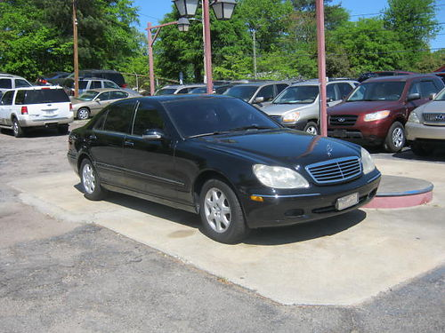 2002 MERCEDES S430 4dr Auto Black Leather Low Miles 9200 706-771-9510