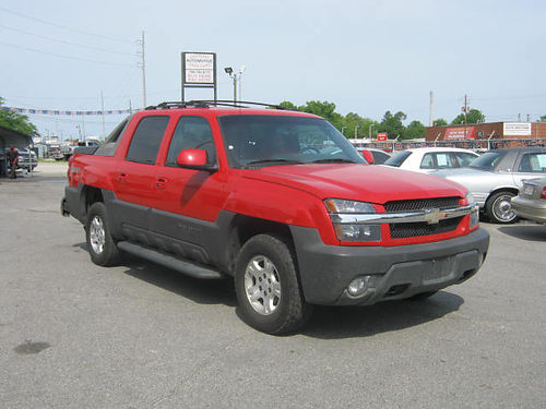 2003 CHEVROLET AVALANCHE Z71 Red Call 888-640-5901