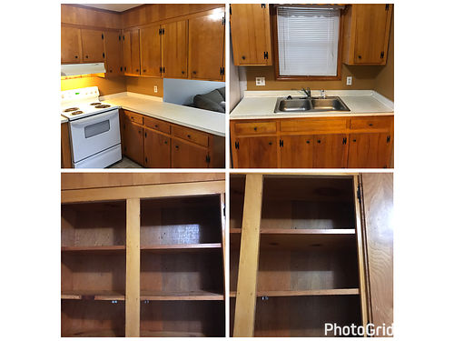 CABINETS KITCHEN antique solid wood great condition 700 if you remove 900 if I have to take down