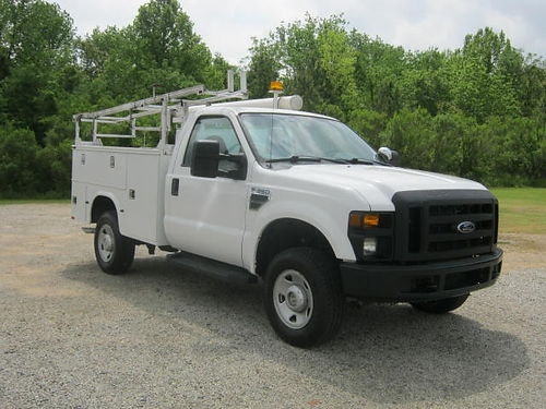 2009 FORD F-350 XL 4X4 2Dr Knapheide Service Body Top Boxes Bed Box Spray Inliner Power Inverte
