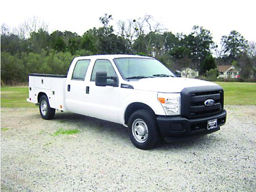 2011 FORD F250 XL 4dr Crew Cab Knapheide Service Body Flip Tops Spray In Liner Tow Pkg Extra C