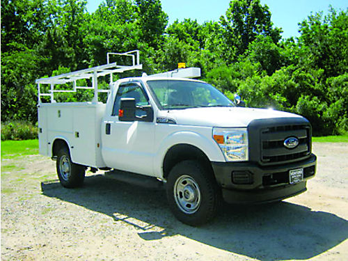 2012 FORD F350 4x4 Knapheide Service Body All Power Flip Tops Ladder Rack Lots of Extras Super