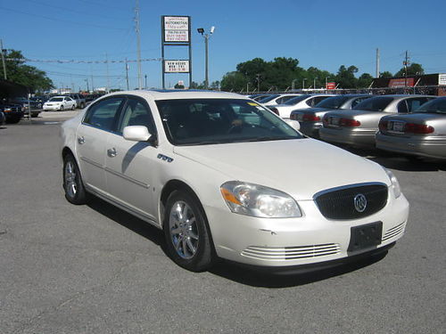 2007 BUICK LUCERNE CXL 4Dr Auto Pearl White Leather 9995 Call 888-640-5901