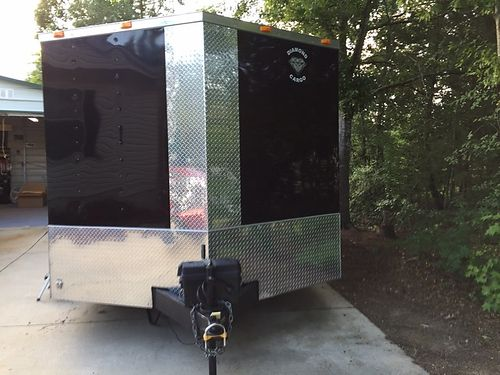 TRAILER 2014 enclosed cargo trailer 16x85 electrical LED package insulated walls  ceiling 2roof