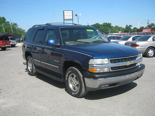2003 CHEVY TAHOE 4Dr Auto Blue Leather Call 888-640-5901