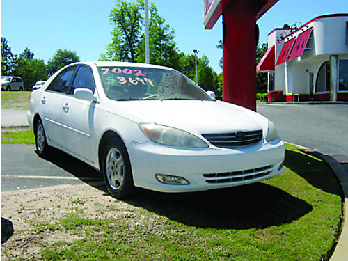 2002 TOYOTA CAMRY LE 4Dr Auto White V6 3699 762-222-6027