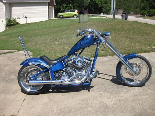 2003 BIG DOG SOFT TAIL CHOPPER 3770 miles 107 ss v engine 6 sp Baker trans 205 rear tire larg