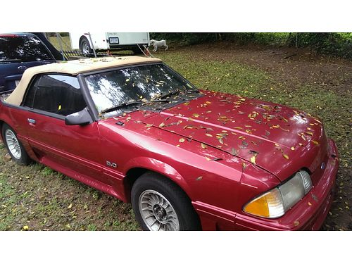 1988 FORD MUSTANG 50 CONVERTIBLE need transmission yoke have pony wheels with new tires that are m