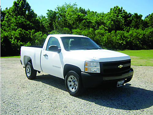 2007 CHEVROLET SILVERADO 1500 Reg Cab Short Bed V6 Auto AC CD OnStar Pwr Locks Priced to Sel