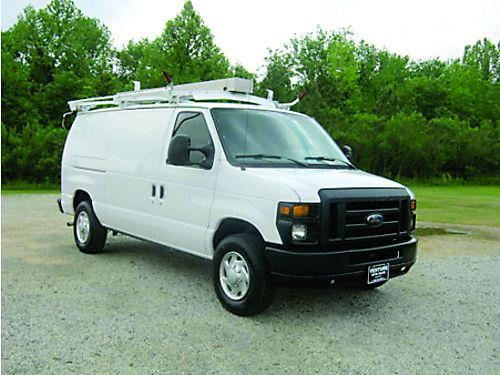 2013 FORD E250 Cargo Van V8 All Power Keyless Entry Bulkhead Nice Interior Shelves Ladder Rack