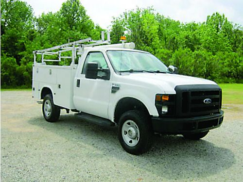 2009 FORD F350 4X4 Knapheide Service Truck 2dr Reg Cab Top Boxes Bed Box Spray In Liner Power