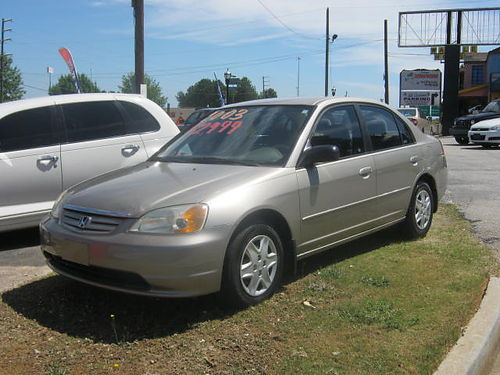 2003 HONDA CIVIC 4dr 5 Spd Gold 2995 762-222-6027