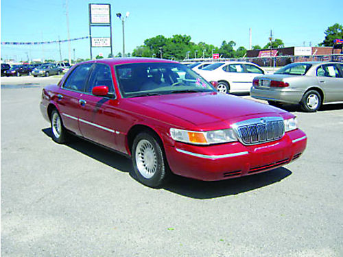 2001 MERCURY GRAND MARQUIS 4dr Auto Leather Burgundy 4995 Call 888-640-5901