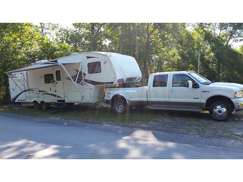 2008 KEYSTONE COUGAR 31 5th wheel camper toy hauler 1 slide sleeps 7 electric awning elecrical