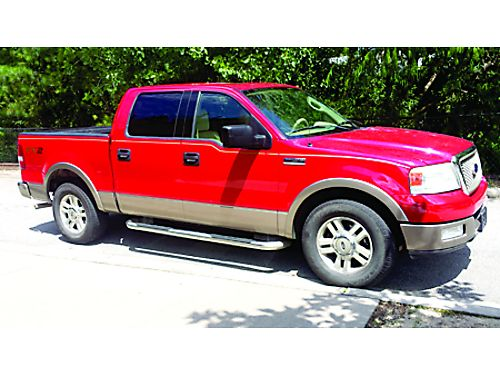 2004 FORD F150 Lariat red beige leather interior 194k miles like new runs great sunroof runnin
