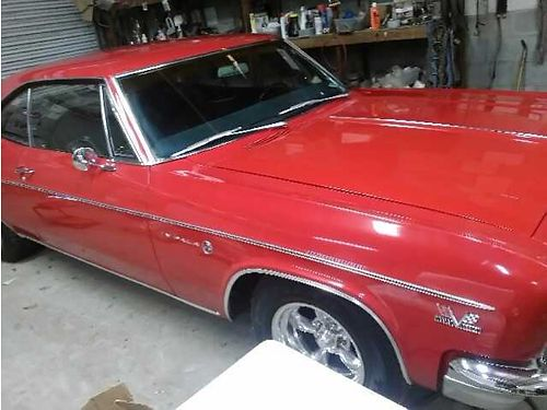 1966 CHEVY IMPALA red 2dr hardtop 396 big block xc 16000 for more photos search ad 2973417