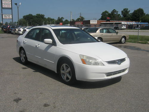 2005 HONDA ACCORD EX Auto White 7995 Call 888-640-5901