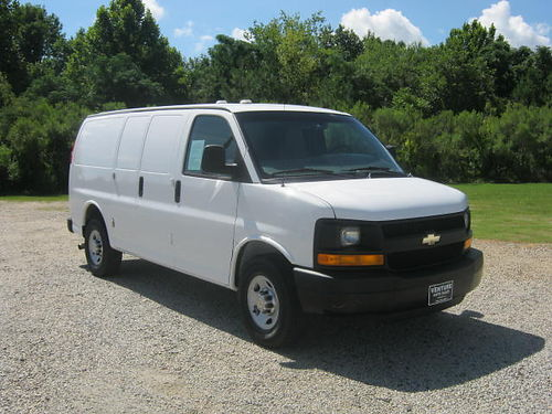 2012 CHEVY 2500 EXPRESS Cargo Van Back Up Camera Nice Interior Shelfs Freon Rack Only 77k Miles