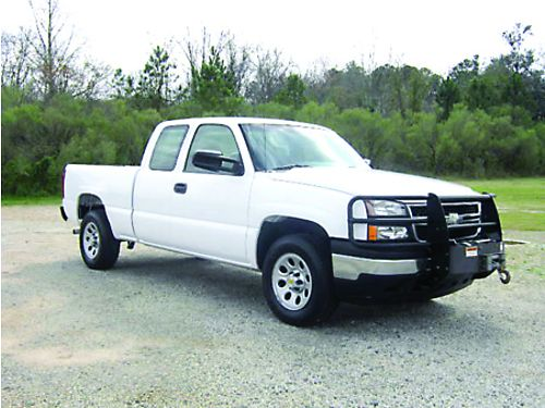 2007 CHEVY 1500 SILVERADO 4X4 4Dr Ext Cab 53L V8 122k Miles Warn Winch Brush Guard Tool Boxes