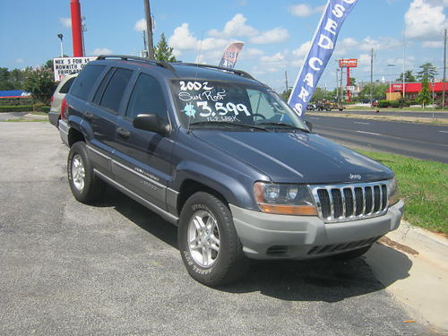 2002 JEEP GRAND CHEROKEE 4dr Auto Blue 3499 762-222-6027