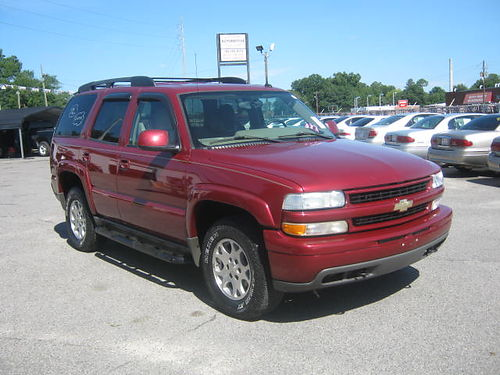 2004 CHEVY TAHOE Z71 4Dr Auto Maroon 3rd Row Leather 10495 Call 888-640-5901