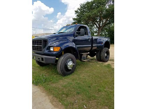 2000 FORD F650 dually 73l turbo diesel international powerstroke engine 6spd super strong back