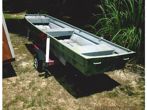 12FT JON BOAT aluminum and trailer 2 trolling motors motor guide T34 Minkota 40 800 obo 228-324-