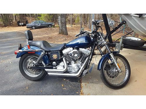 2002 HARLEY SUPER GLIDE 12k miles wide glide front end vh short shots ss carb king and queen s