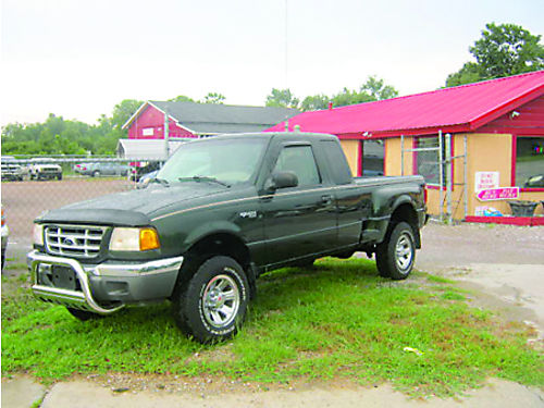 2001 FORD RANGER XLT Ext Cab Green 3995 855-830-1721