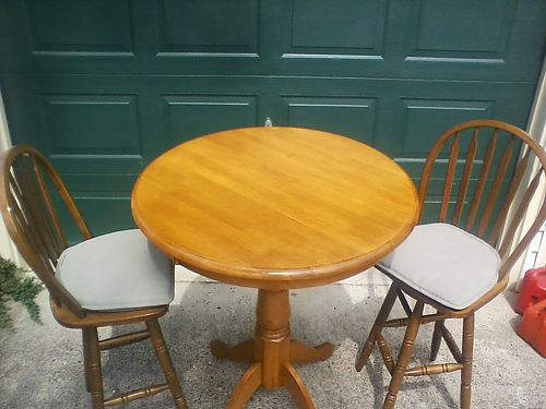 TABLE with 2 chairs cafe style very good condition 75 obo for color photos search ad 2975609  w