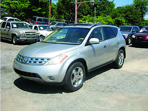 2009 NISSAN MURANO 4dr Auto V6 Silver Tan Leather Alloy Wheels 4900 800-805-7984
