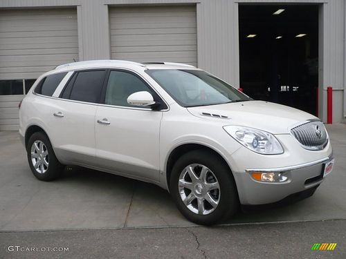 2009 BUICK ENCLAVE 4Dr Auto White 3rd Row Leather 10995 Call 888-640-5901