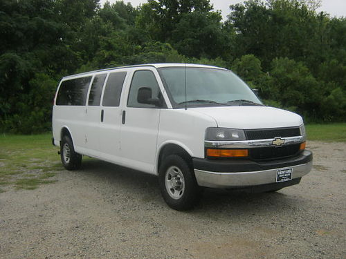 2010 CHEVY 3500 EXPRESS 15 Passenger Van 69k Miles 60 V8 All Power Rear AC Keyless Entry Flee