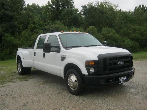 2008 FORD F-350 XL Dually Crew Cab 64 Diesel 85k Miles Long Bed BW Gooseneck Hitch Tool Box