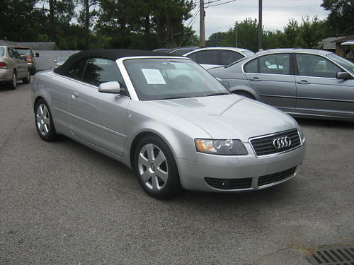 2003 AUDI A4 CABRIOLET 90k Miles Convertible Silver 5900 800-805-7984