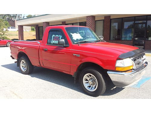 1999 FORD RANGER red loaded v6 immaculate condition inout been in family since new msta 3950ob