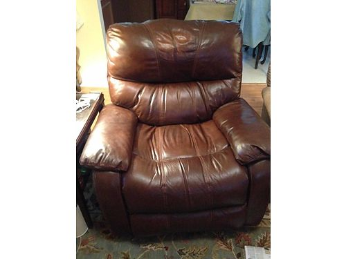 RECLINERS 2 brown leather oversized great for teen hangout or man cave gently used 200ea obo