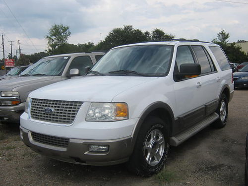 2004 FORD EXPEDITION EDDIE BAUER 4Dr Auto 3rd Row White 5995 855-830-1721