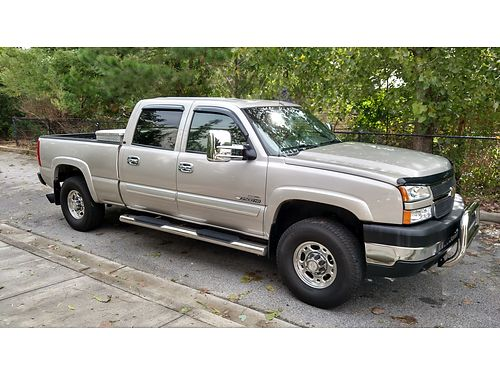 2006 CHEVY 2500 LT 4dr crew cab duramax diesel 2 owner 178k like new back up camera bluetooth
